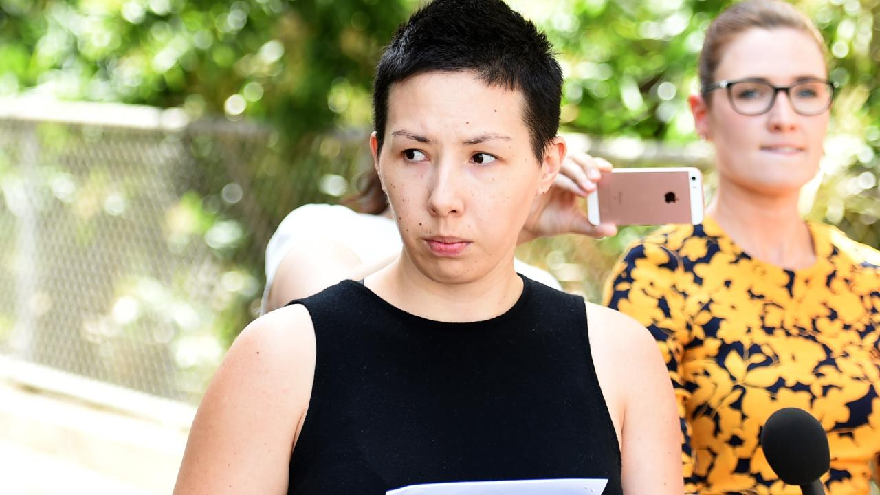 Lucy Victoria Wieland, 27, was charged with one count of fraud for allegedly creating a fundraising scam after lying about having ovarian cancer. Picture: Alix Sweeney