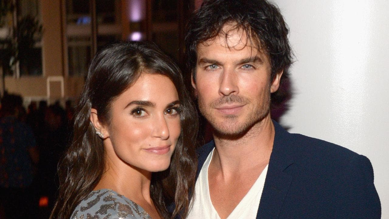 Ian Somerhalder and wife Nikki Reed. Picture: Dave Mangels/Getty Images