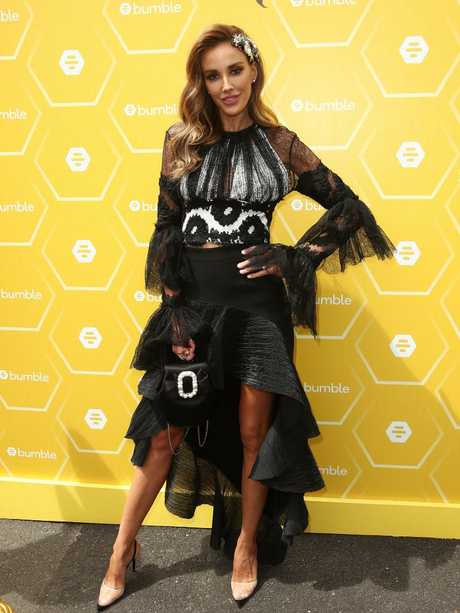 Rebecca Judd poses at the Bumble Marquee on Derby Day. Picture: Getty Images