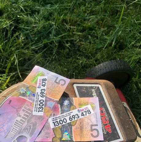 A woman found some notes in her backyard at Silkstone.