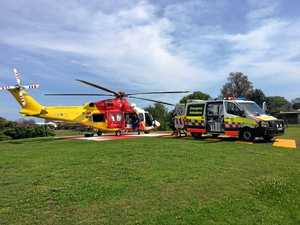 Motorcyclist critical after collision with roo near Grafton