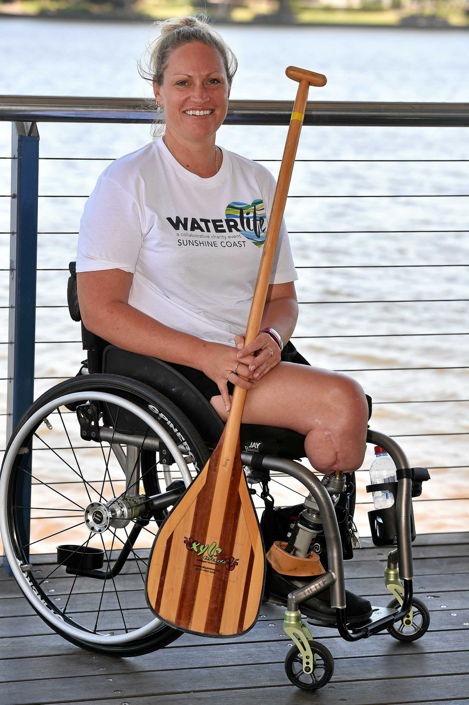 Shona Muckert took up outrigger canoeing after an accident saw her lose both legs.