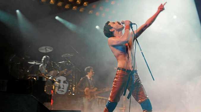 CHAMPIONS: Joseph Mazzello, Rami Malek, and Ben Hardy in  Bohemian Rhapsody.