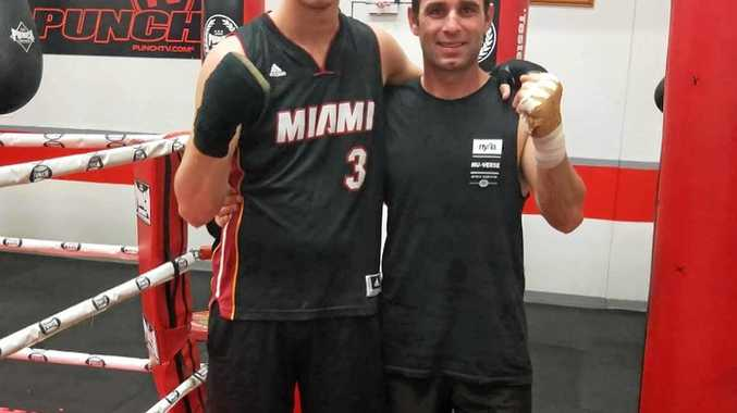 FIGHTING FIT: Adam Stowe (right) will fight for the NSW Light Heavyweight boxing title this weekend.