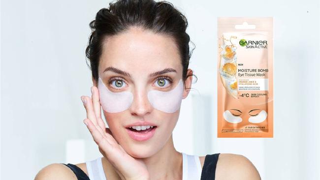 These Garnier under-eye masks cost $4 from the supermarket.