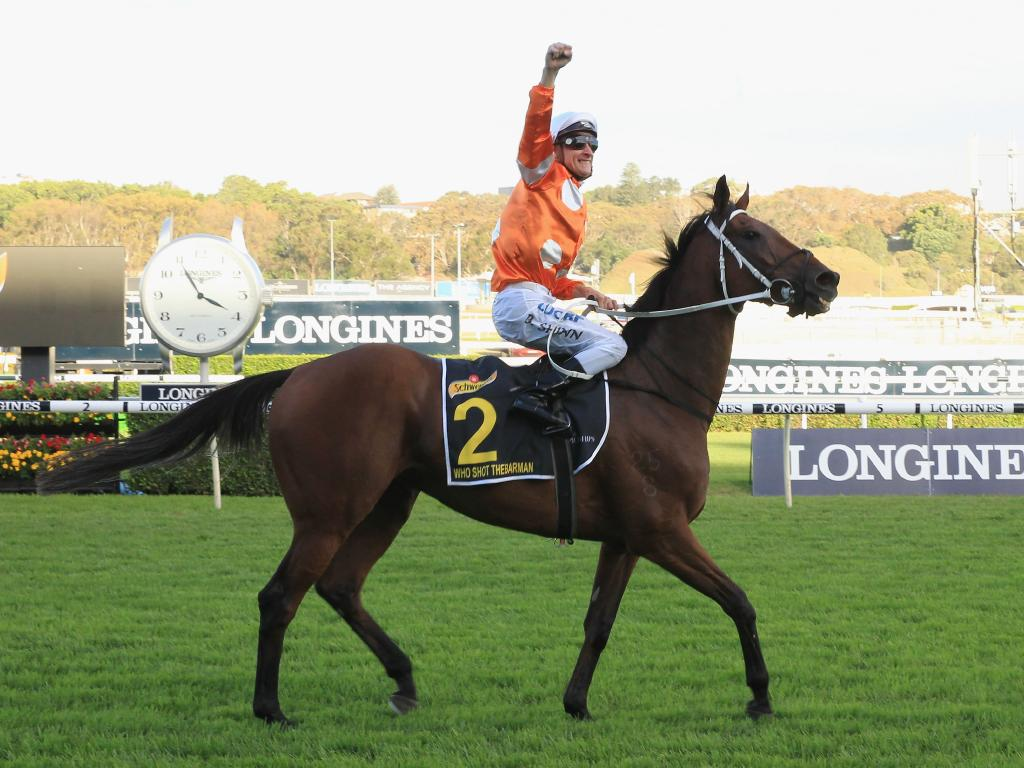 Who Shot Thebarman after winning the Sydney Cup. Picture: Mark Evans/Getty Images