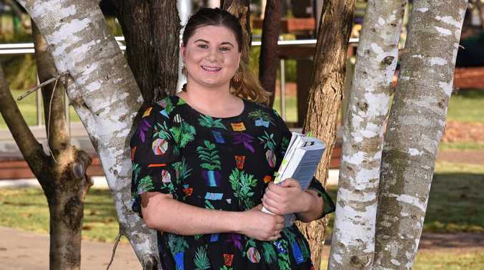 Final year teaching student Brianna Corbyn already has her first job lined up. Picture: AAP/John Gass