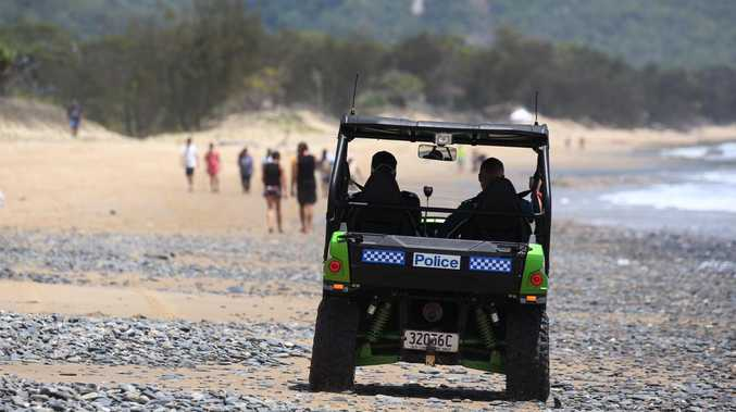 Hundreds of people took part in a combined hunt for clues about Toyah Cordingley's murder at Wangetti Beach. PICTURE: STEWART MCLEAN
