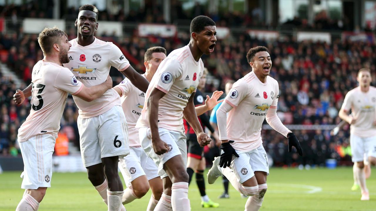 Marcus Rashford's late intervention gave United the win at Bournemouth.