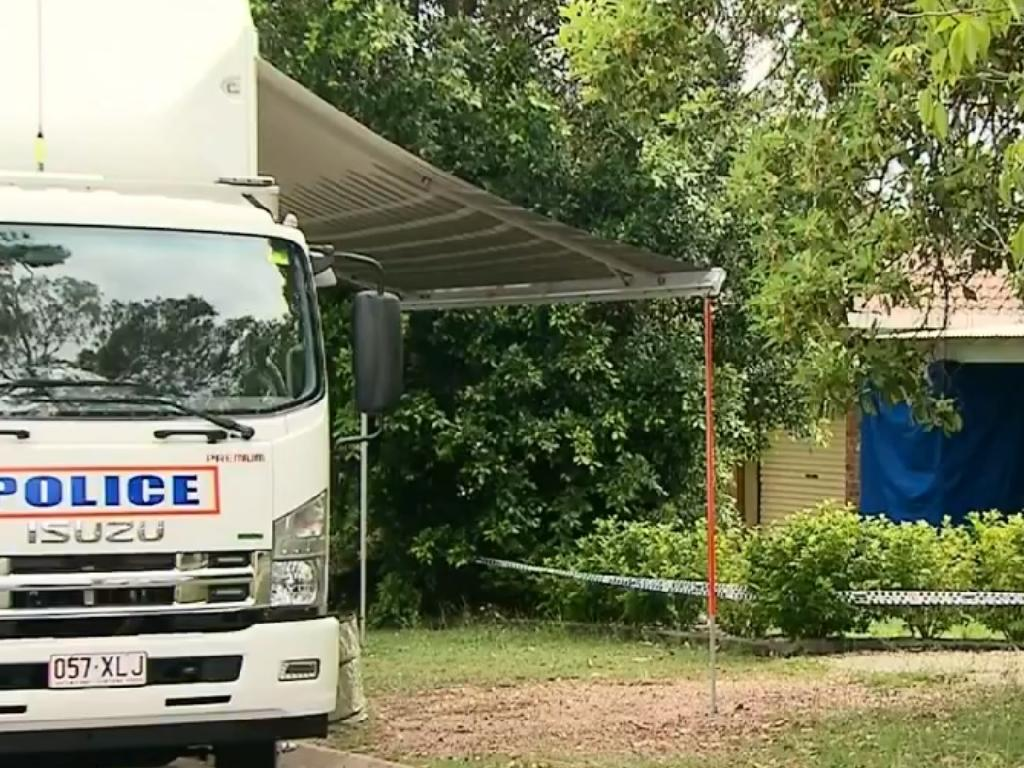A crime scene was established at University Drive at the weekend. Picture: 9 News