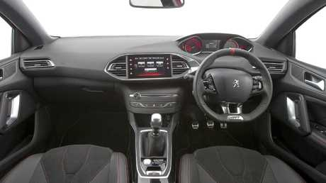 Vision impaired: The small steering wheel obscures important dials.