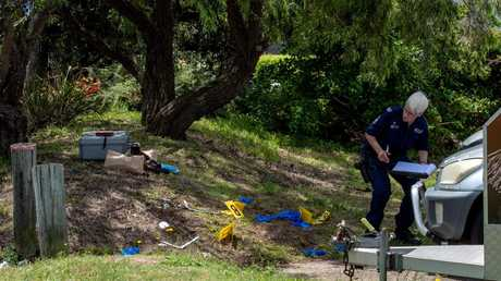 Police investigations in the park on Sunday.