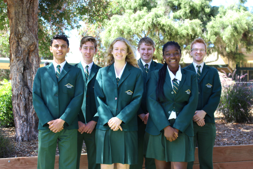 Excited for Centenary State High School awards night are (from left) Nilp Amin, Joshua Smith, Lillian Carland, Caleb Genrich, Charline Marom and Rhys Keane.