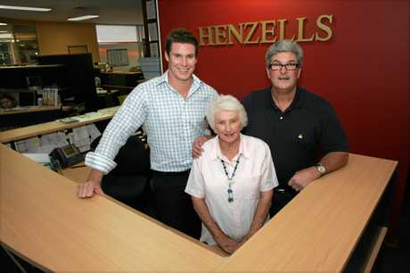 Mclean, left, pictured with his dad, Roy Henzell, and his nan, Judy Henzell, back in 2008.