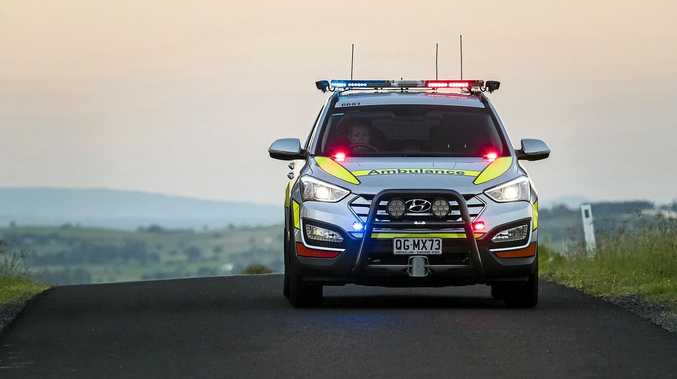Multiple paramedic crews were called to the Bruce Highway on ramp at Meridan Plains this morning after a serious vehicle and bicycle crash.