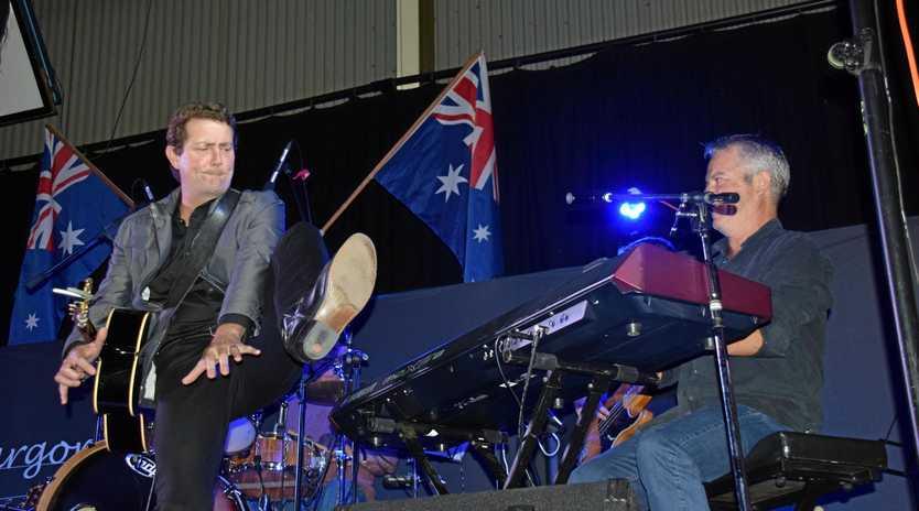 PLAYING AROUND: Adam Harvey has fun with Vaughan Jones