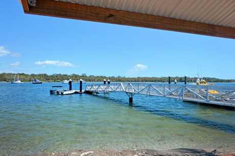 Tin Can Bay Coast Guard jetty.