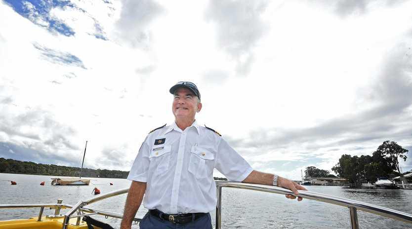 Tin Can Bay volunteer Coast Guard Philip Feldman.