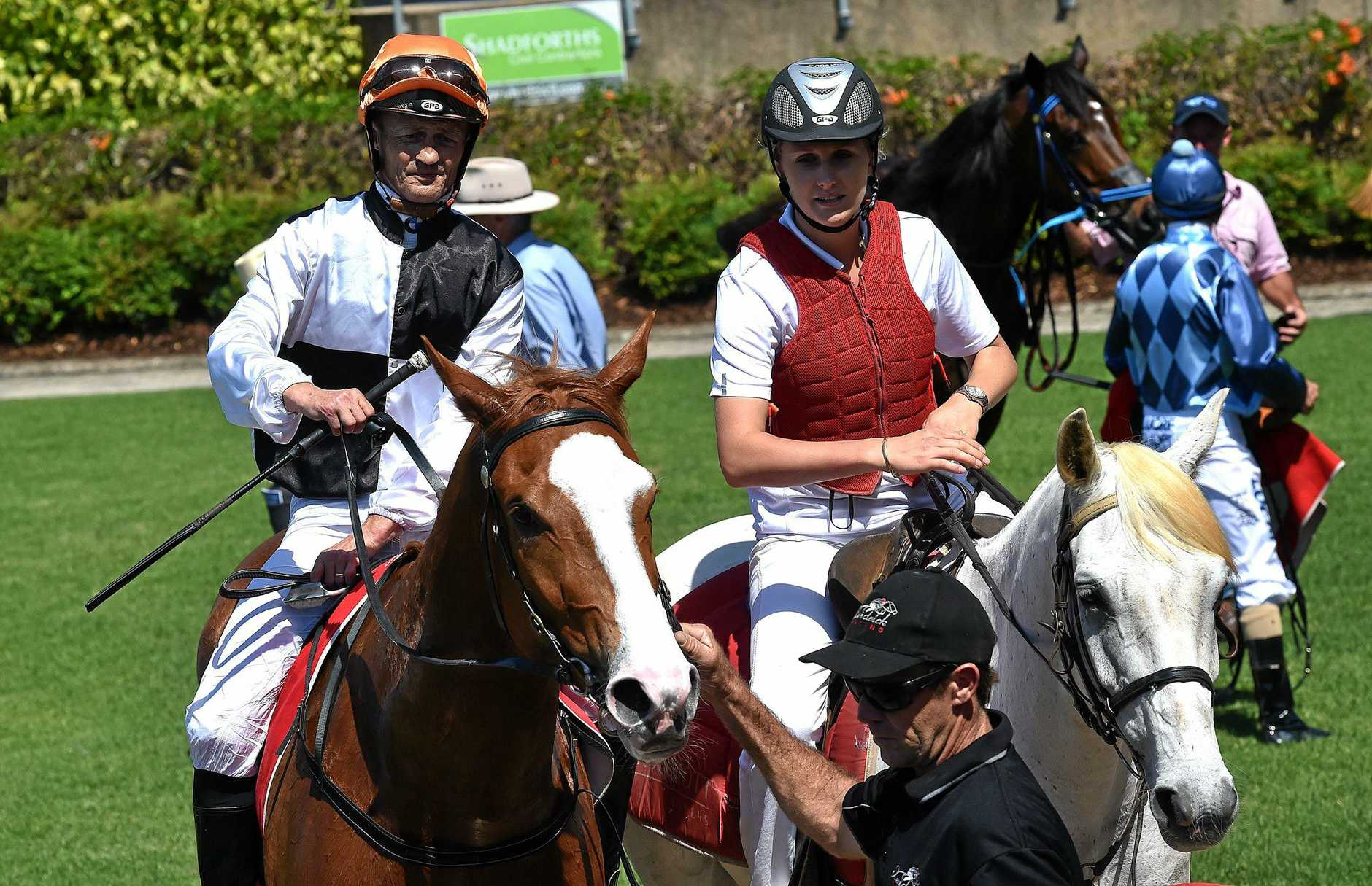 STALWART: Damian Browne, pictured at Corbould Park on Sunday, when he won aboard Coral Bay.
