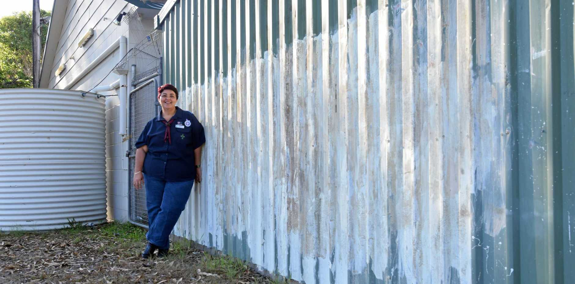Banksia Scout Group leader in charge Katrina Hoare is frustrated by the number of attacks on the group's property.