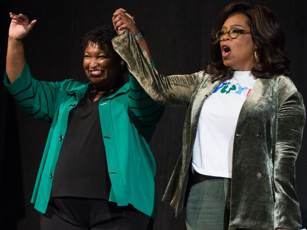 Oprah Winfrey is stumping for Georgia Democratic Gubernatorial candidate Stacey Abrams who would be the first black governor in Georgia, if elected. But racists have other plans. Picture: Jessica McGowan/Getty Images