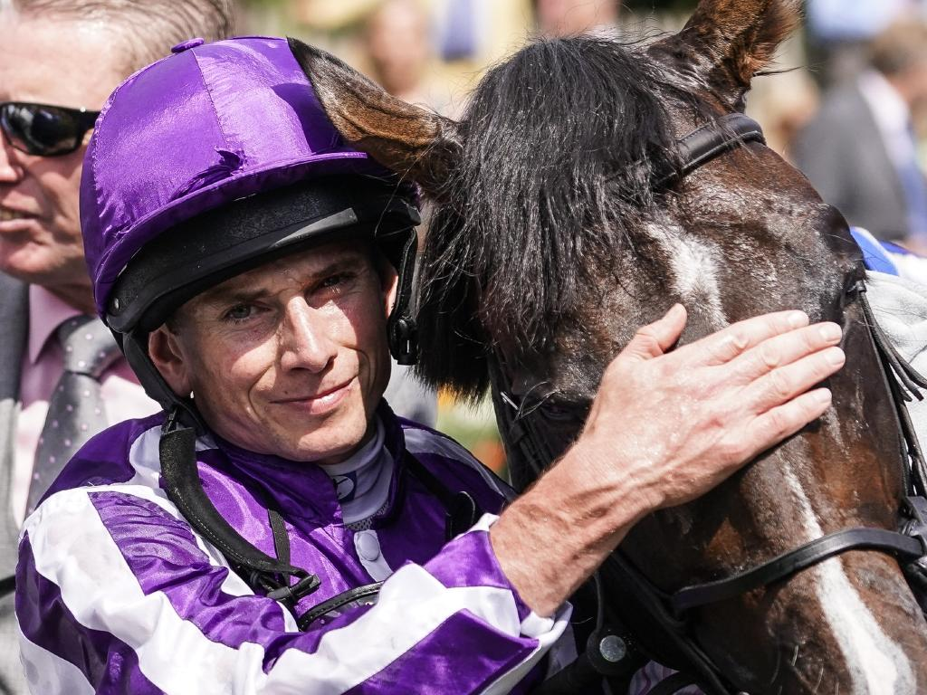 Ryan Moore after riding US Navy Flag to victory in the Darley July Cup at Newmarket.