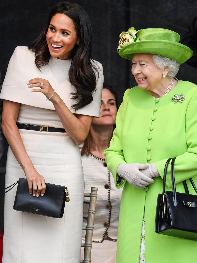 The new Duchess of Sussex and the Queen have clearly hit it off. Picture: Jeff J Mitchell/Getty Images