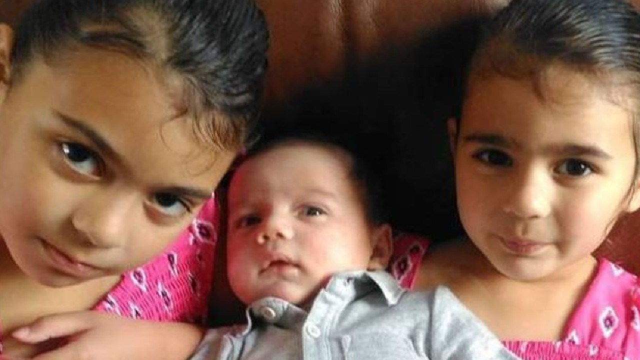 New Zealand man Luke Thomas is fighting to be reunited with his three children, Bella, 7, Raiden, 5 months, and Raia, 4, in the UK.