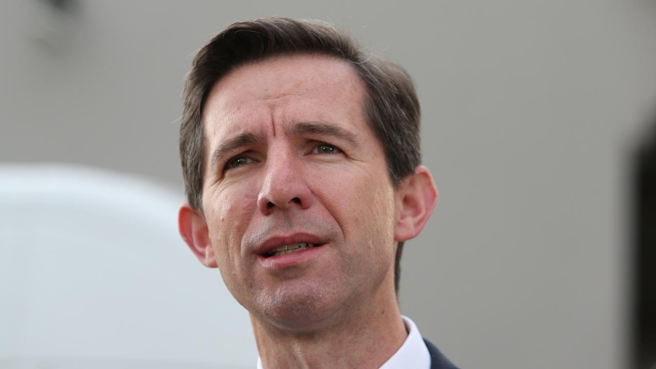 "Simon Birmingham said he rejected academic projects which were of ""wrong priorities"". Picture: Kym Smith"