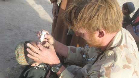 Voodoo Medic Dr. Jeremy Holder during his deployment to Afghanistan.