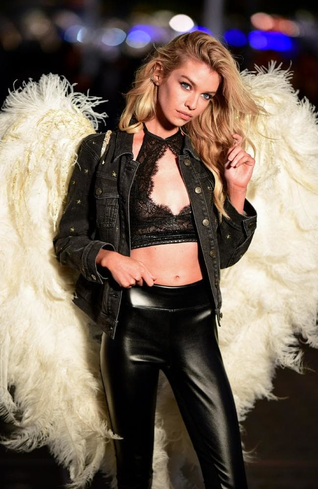 Stella Maxwell, pictured in New York this week at a Victoria's Secret fitting, ahead of her role in this year's show. Picture: James Devaney/GC Images