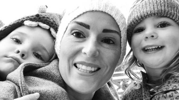 Louise with her children Evie and Noah.