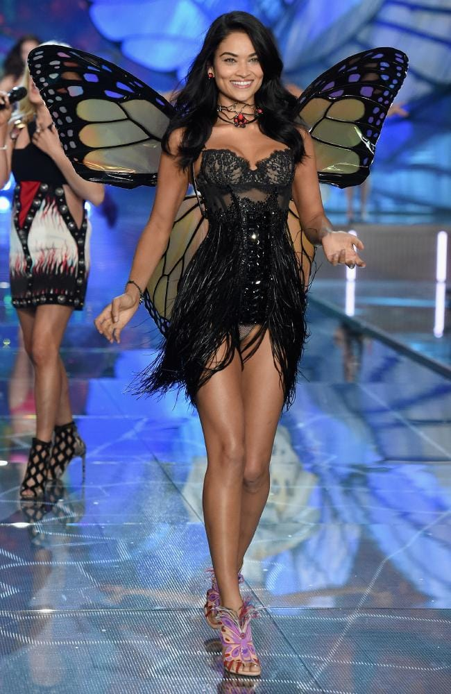 Melbourne-raised Shanina Shaik, pictured for Victoria's Secret in 2015, is runway ready. Picture: Getty Images for Victoria's Secret