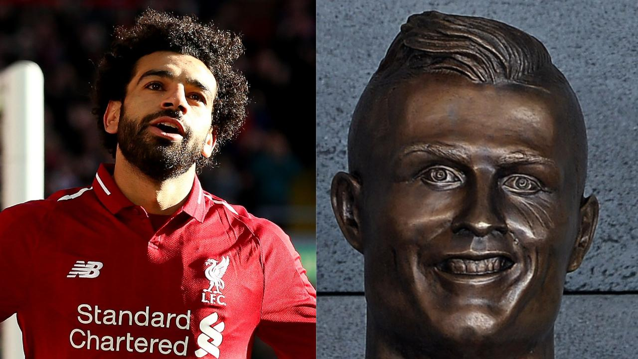 Mohamed Salah has been given the statue treatment... some fans think its worse than the infamous Ronaldo fail