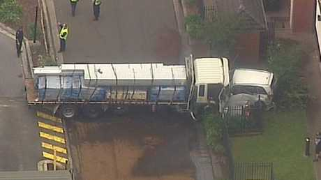 At least three people have been injured as a result of the crash. Picture: Channel Seven