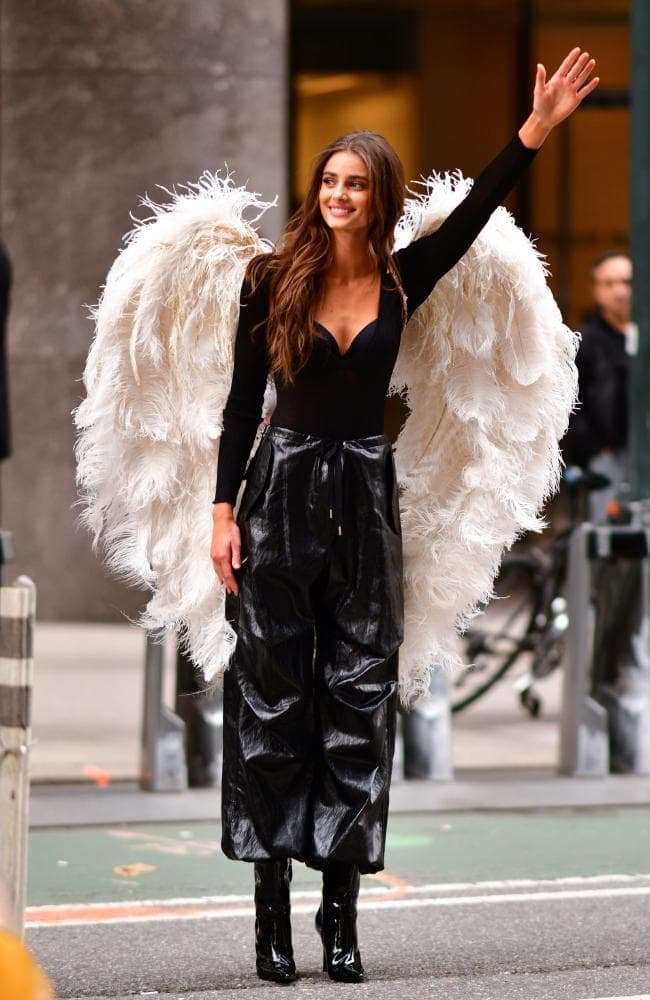 VS Angel Taylor Hill stopped traffic at her fitting this week. Picture: James Devaney/GC Images