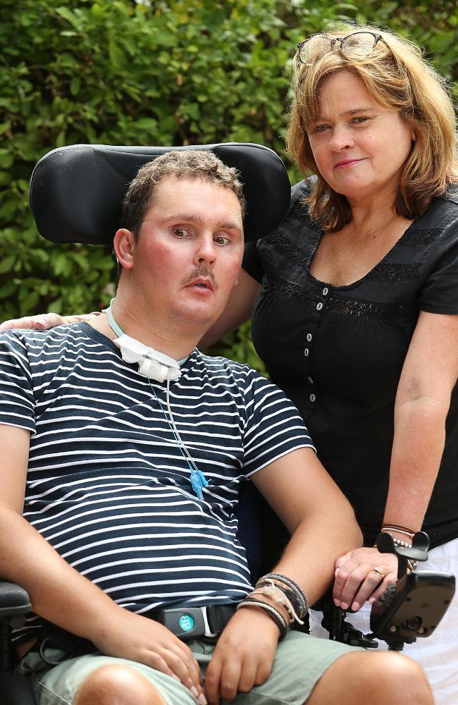 Katie Ballard with her son Sam.