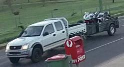 Stolen motorbikes sighted on back of car