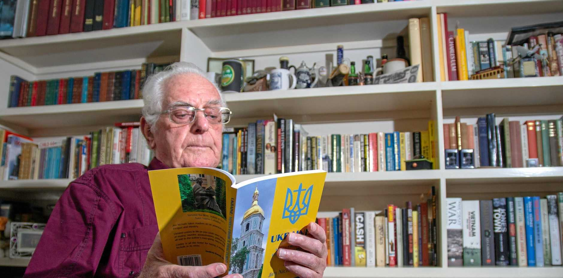 WHAT A TALE: Laidley author Jim Nicholls journeyed to Ukraine earlier this year and chronicled his travels in his new book, launching later this month.