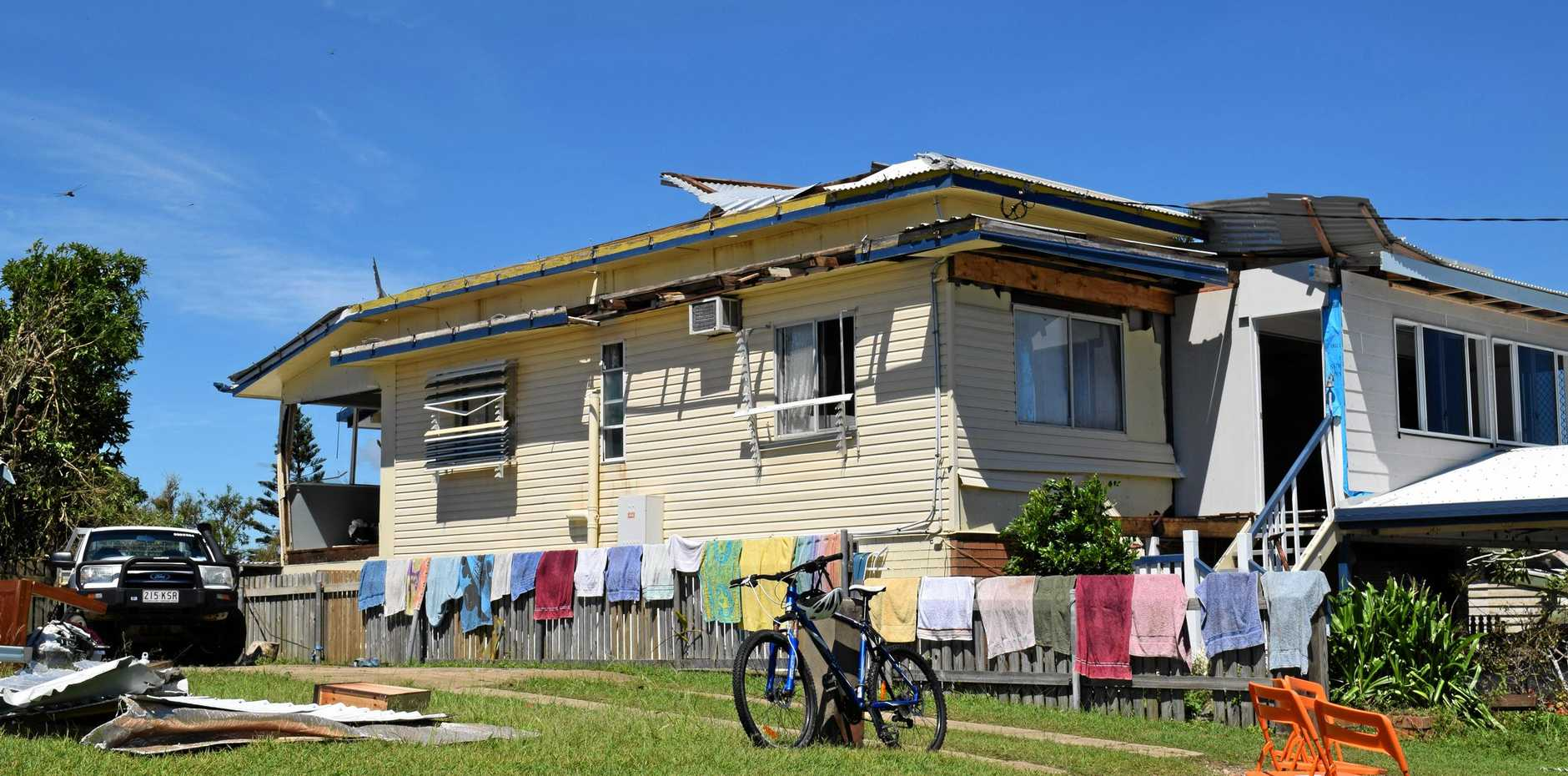 A house in Yeppoon damaged after Cyclone Marcia. Photo Lisa Benoit / The Morning Bulletin