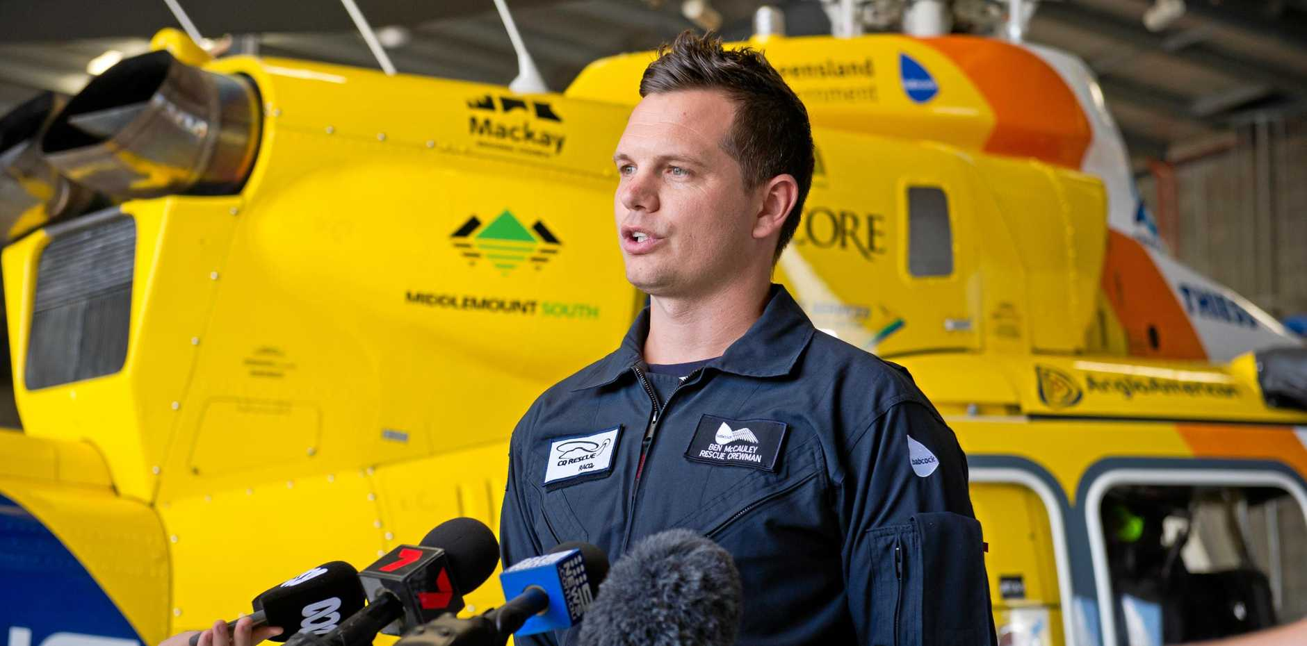 Ben McCauley has been part of the RACQ CQ Rescue crew for all three shark attacks.