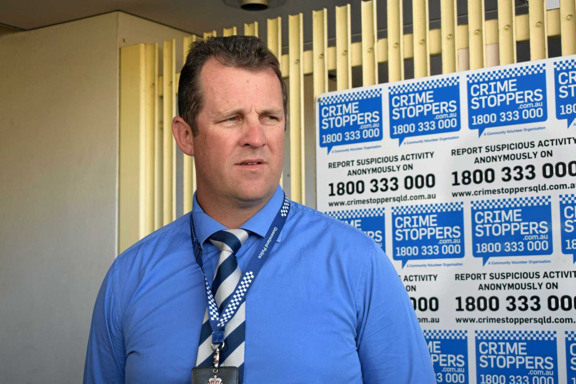 Dect Snr Sgt Luke Peachy addressed media about an assault in North Rockhampton on Saturday night.