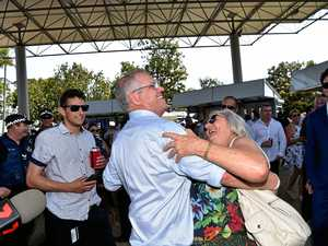 ScoMo stops for a dance, selfie and chat at Coast races