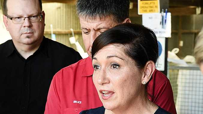 FORGIVEN: Leeanne Enoch met with Fraser Coast councillor James Hansen over his comments last month.