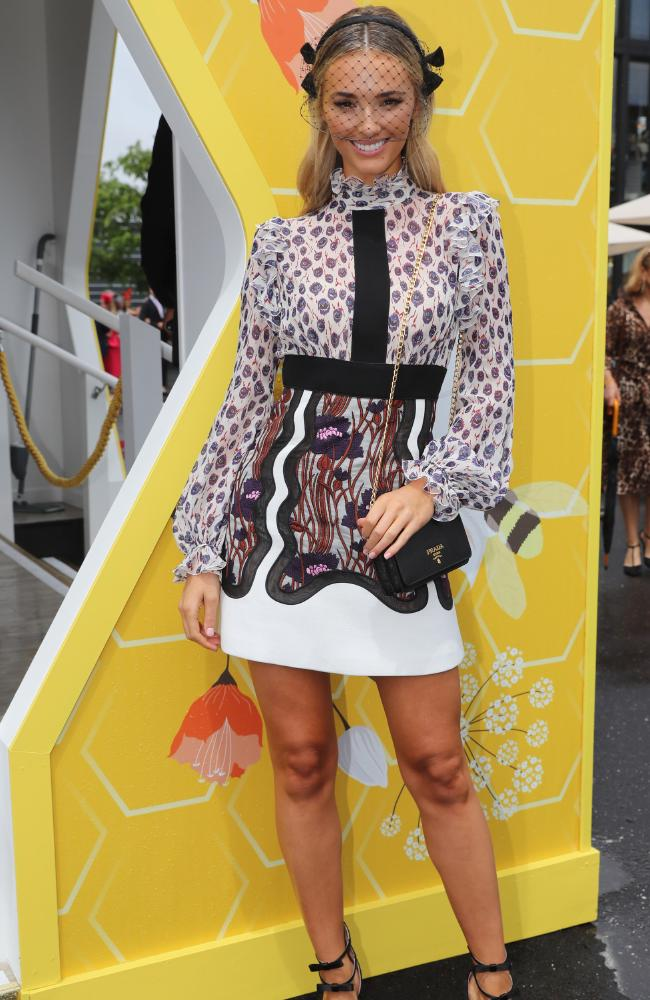 Brooke Hogan in the Bumble marquee. Picture: Alex Coppel