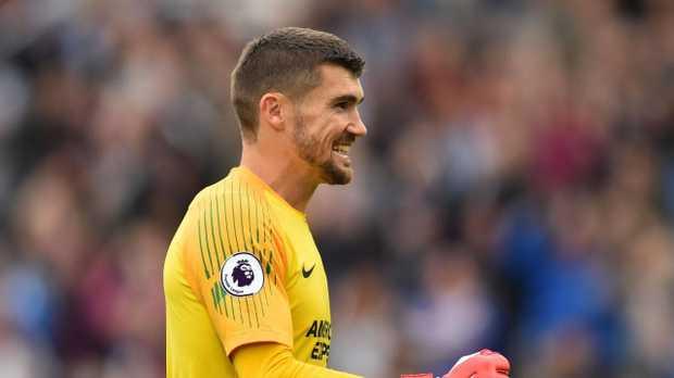 Brighton's Australian goalkeeper Mathew Ryan