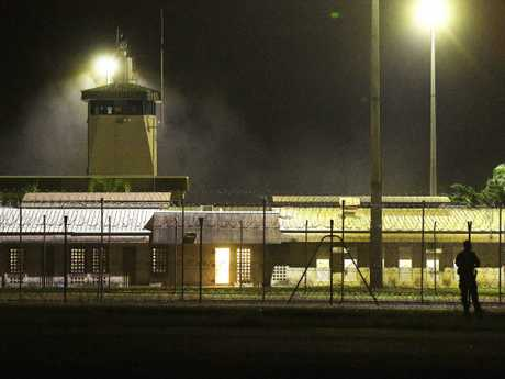 Smoke is seen coming from Don Dale Detention. Picture: Keri Megelus