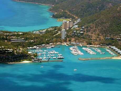 Aerial view of Cid Harbour, Hamilton Island. Picture: Daryl; Wright