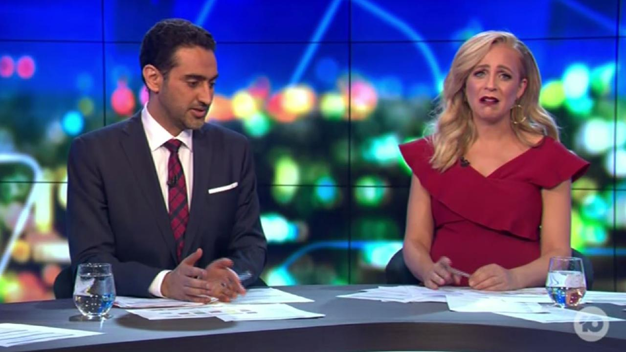 Both Carrie Bickmore and Waleed Aly were moved by the segment