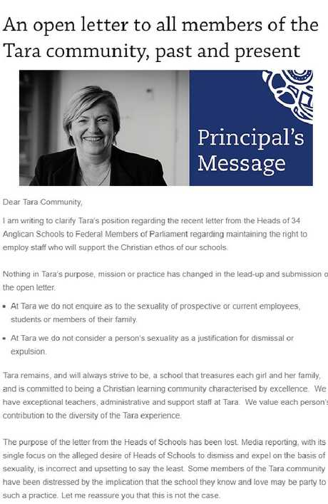 Susan Middlebrook's open letter.